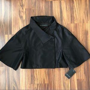 Zara Women's Black Button Collar Cape Size XS